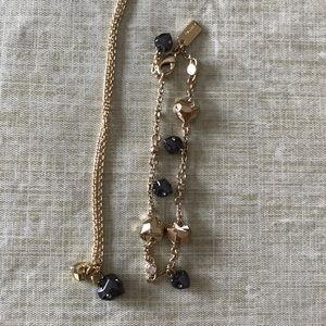 Coach heart necklace and matching bracelet!